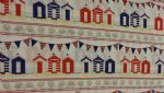 "PRINTED BEACH HUTS - 18"" x 22"" Fat Quarter"